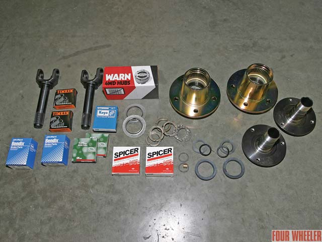 129 0510 06z+jeep tj+hub kit