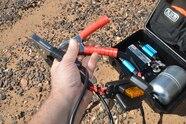 002 ARB Air Compressor test compressor open showing contents
