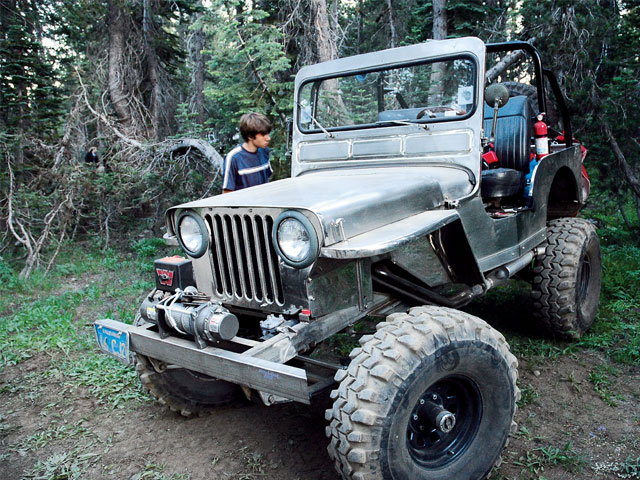 Steel Jeep Front View
