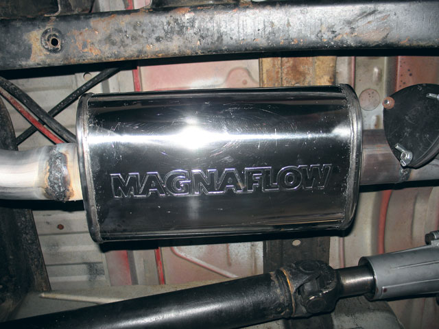 131 0607 06 z+custom exhaust pipes+magnaflow muffler