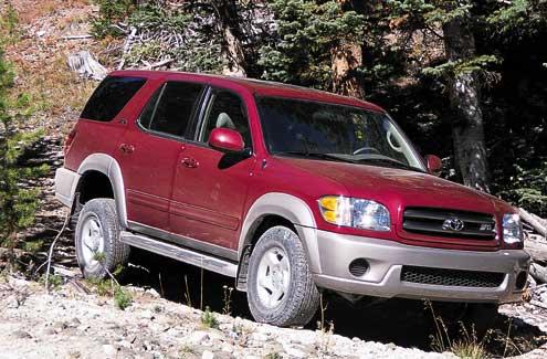 The 2001 Toyota Sequoia.
