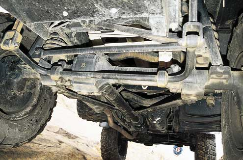 Ground clearance, at almost 20 inches, combines with a 127-inch wheelbase to allow the Unimog to straddle ruts most other 4x4s will fall into.
