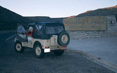 Do y'all know where I can find the road to Carlsbad Caverns? I cain't find it nowheres.