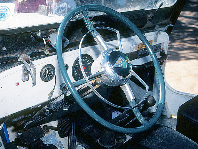 Steering columns and boxes from the early '50s Hudsons were often swapped into Jeeps. Their heavy-duty construction and slow ratio made steering with big tires so much easier before the days of power steering.