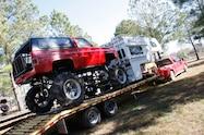 trucks gone wild south berlin mud ranch car towed on trailer