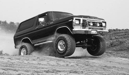 Blasting down fire roads and highway driving requires big power to get you going. Too high a gear ratio and you lug the engine, and too low a ratio will over-rev the engine at high speeds. Plan ahead for what you intend to do with your rig, as swapping gears isn't cheap. One solution is to run stock or higher axle gears for regular use, and install a crawler box to help you on the trail.