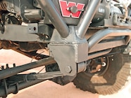 Marlin Crawler front shock hoops have been welded to the