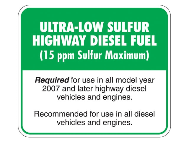 129 0702 04 z+ultra low sulfur diesel+sticker