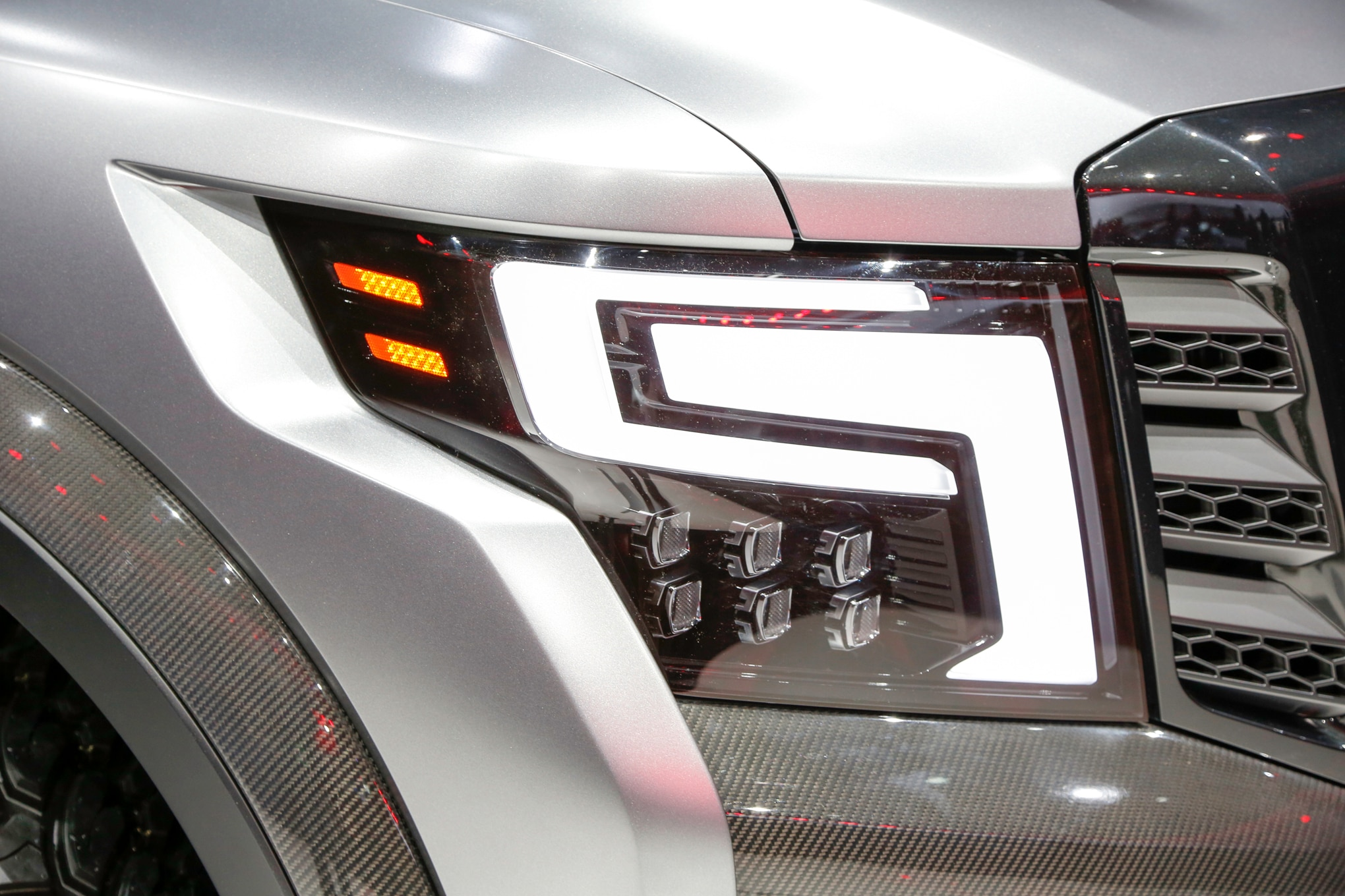 Nissan Titan Warrior Concept headlight