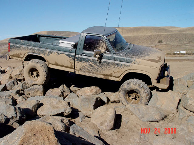1986 Ford F250 passenger Side View Rocks Photo 9539854