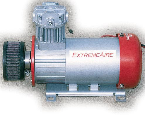 <p>Built to Last  <br>The Extreme Aire compressor is the only unit with a large, washable K&N filter on the intake, which extends compressor life. With a 100-percent duty-cycle and 150psi rating, it took only 3 minutes, 5 seconds to fill our test tire. The Extreme Aire performed well in the air-tool test, too. It was able to spin eight lug nuts before pausing when combined with a 2-gallon air tank.