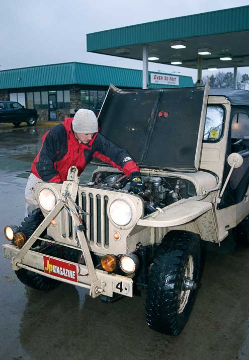 Verne and Jeep. A common position.