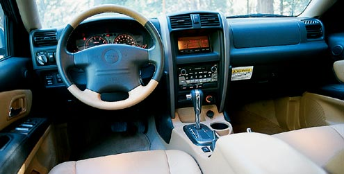 115432 large+2002 Isuzu axiom+front interior view