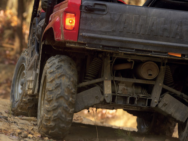 Independent double-wishbone suspension provides endless control on the trail.