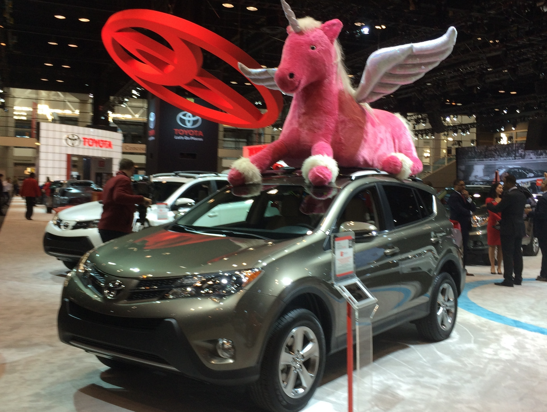 2015 Chicago Auto Show Pink Unicorn.JPG