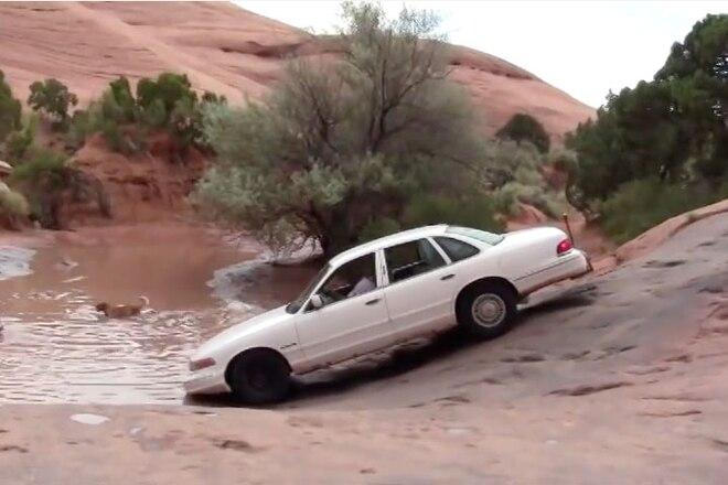 Crown Vic Handles Red Rocks of Moab - Video