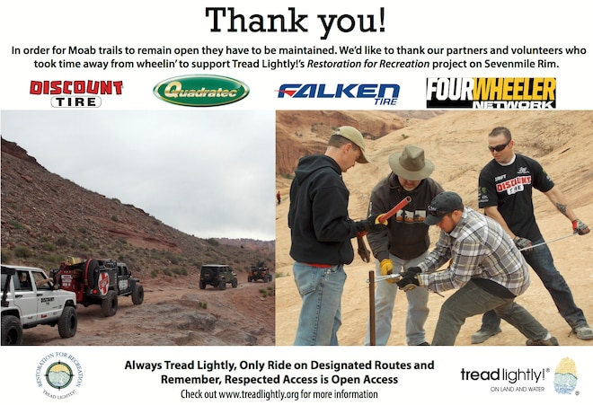 Tread Lightly Seeks Volunteers for Easter Jeep Safari Cleanup in Moab