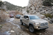 pickup truck of the year contenders on trail
