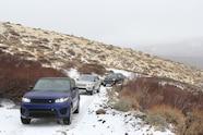range rover svr in snow