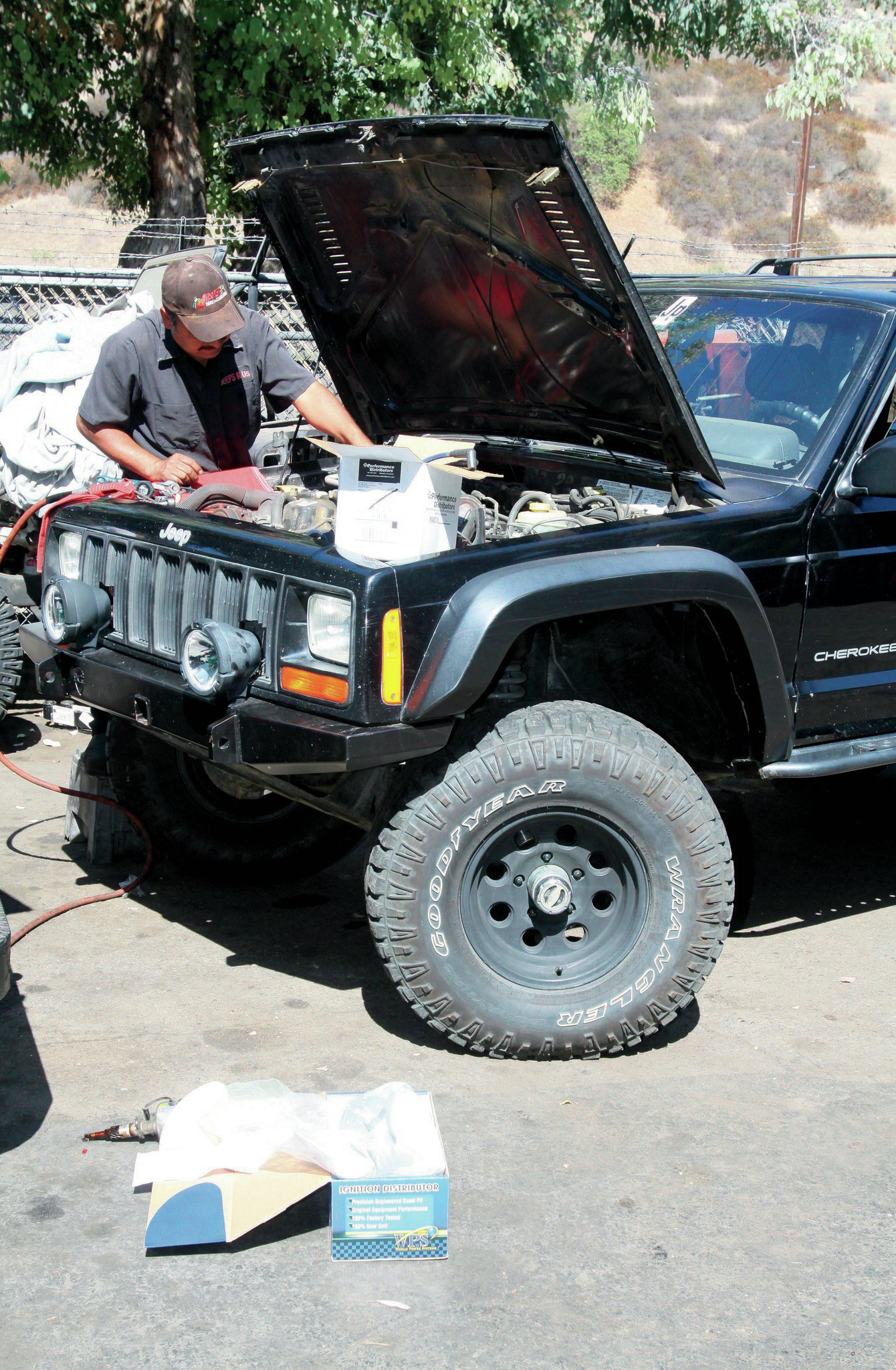 Once that was done, it was time to button the Jeep back up. A new distributor, new-to-us coil, and some performance ignition parts and it was running better than ever.