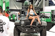 sema girl on jeep