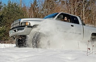 dodge ram with falken mt in snow