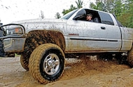 spinning tires in mud