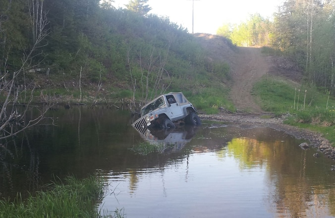2002 Jeep TJ Stuck In The Drink - Whoops!