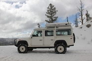 05 Land Rover Defender in snow