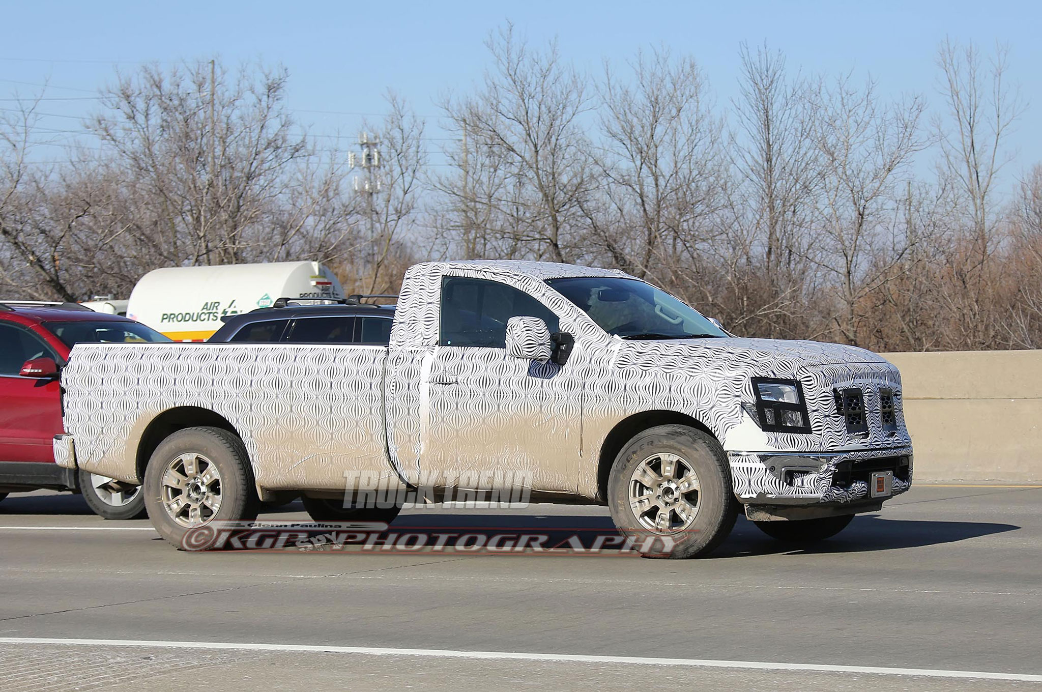 SPIED: Nissan Titan Regular Cab Work Truck