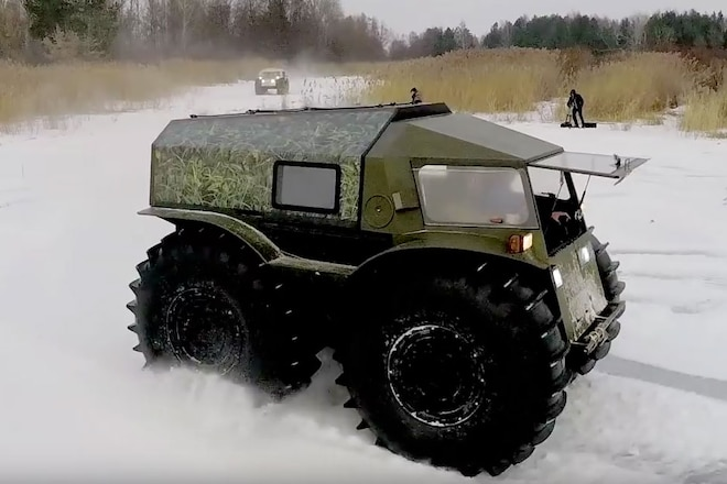 Video of the Amphibious Russian SHERP ATV