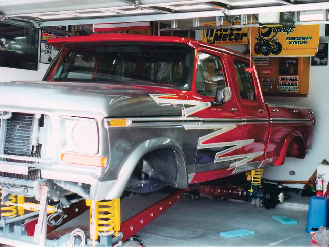 0605or 09 z+1975 ford f250 4x4 modern classic+work shop garage