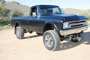 1967 chevyc20 4x4 conversion clean and black right side view
