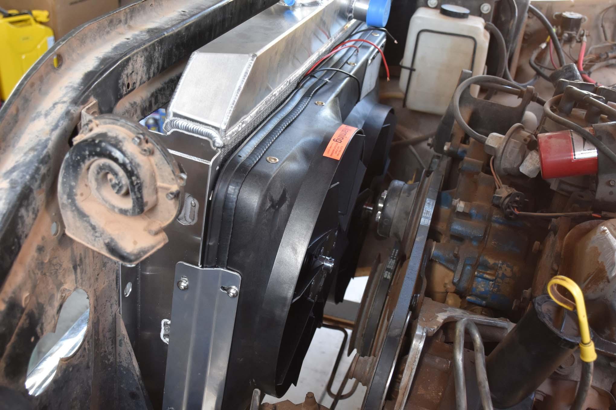 installing flex a lite radiator fans fluid coolers 005