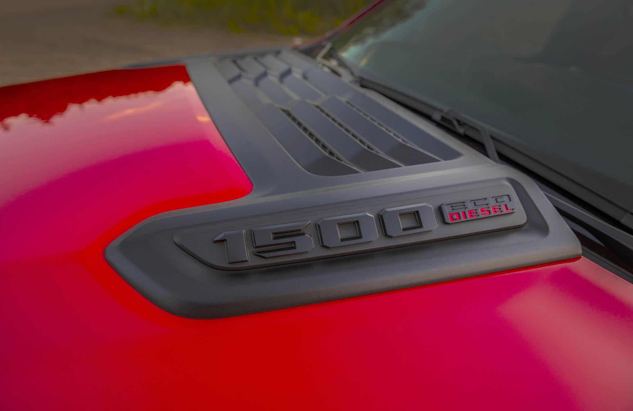 013 ecodiesel powered 2020 ram rebel hood emblem