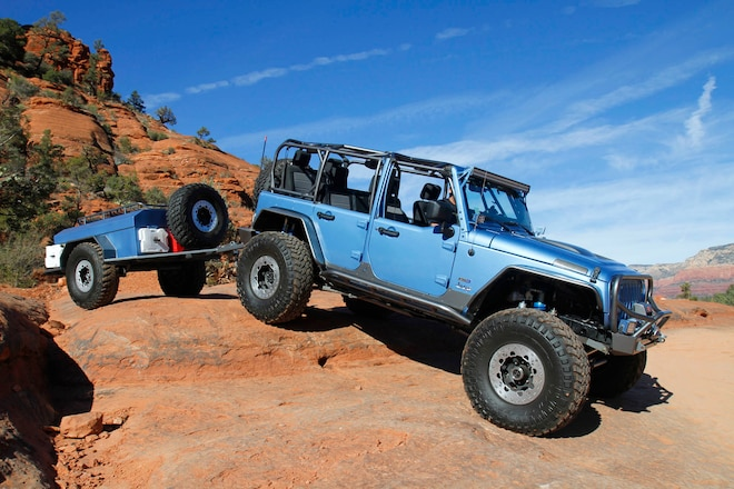 Family Accommodations: A JK Wrangler and Trailer Combo Fits This Family Well
