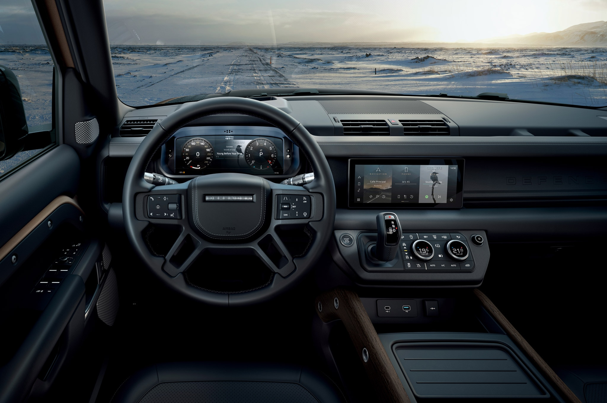 2020 land rover defender 110 interior cockpit