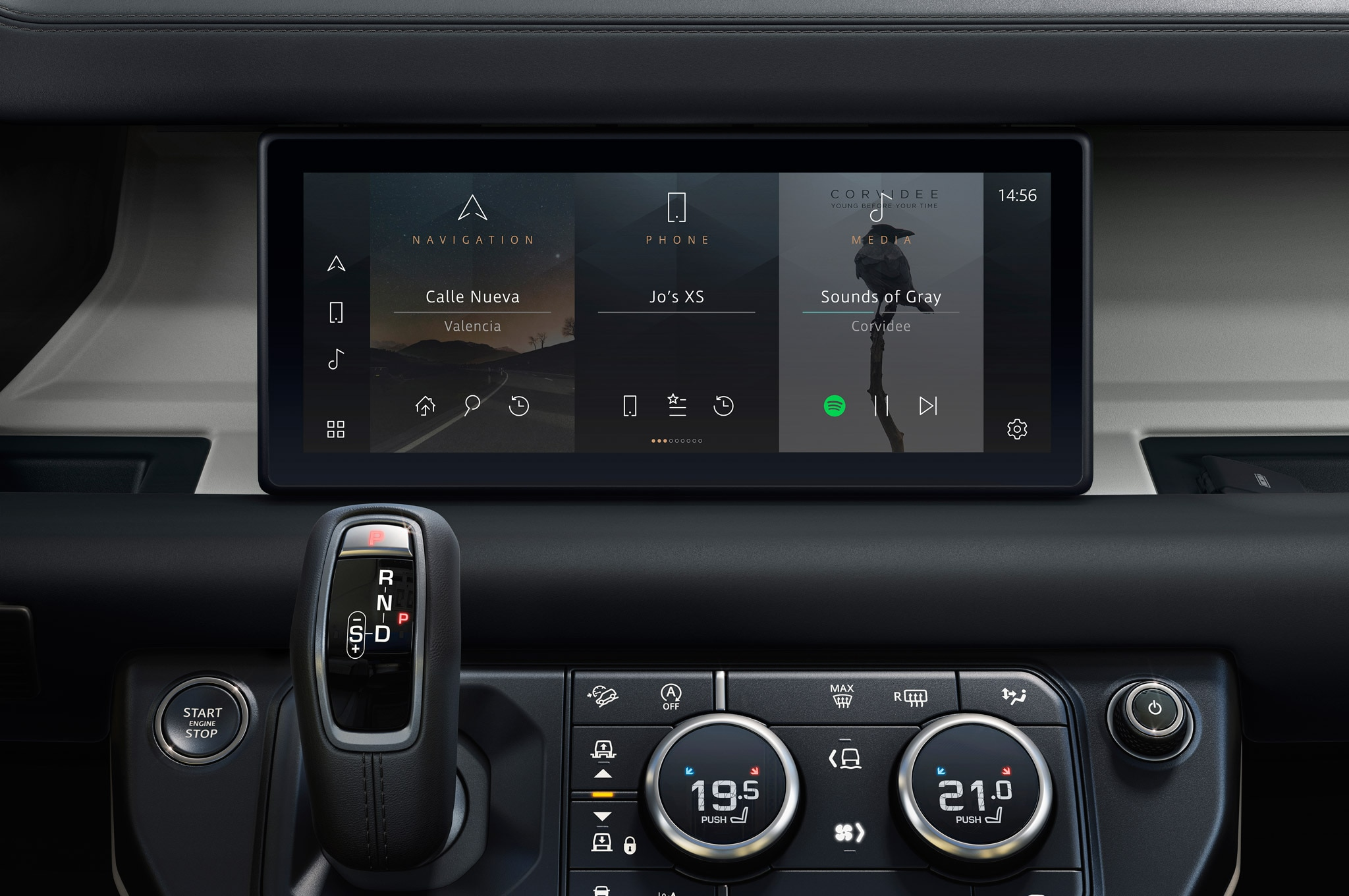 2020 land rover defender 90 interior infotainment 01