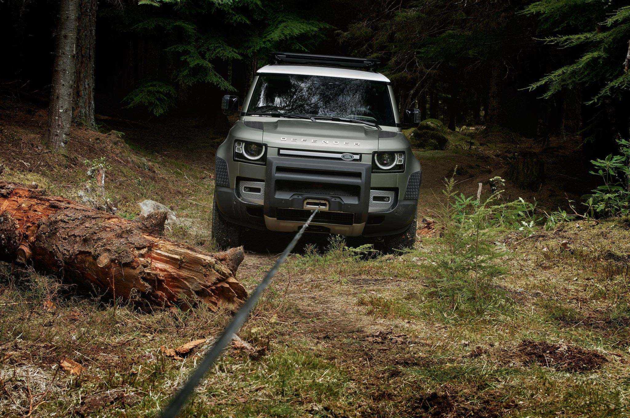 2020 land rover defender 90 off road winch