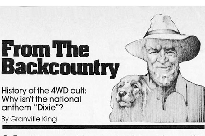 """Granville King's """"From The Back Country"""" September 1985"""