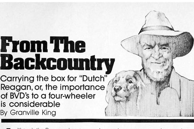 "Granville King's ""From The Back Country"" October 1985"