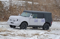 2021 Ford Bronco Spy Shots: Four (Possibly) Removable Doors Testing In Snow