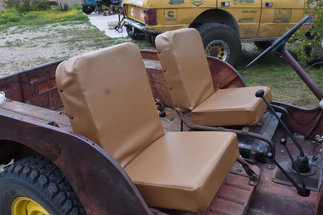 DIY Seat Covers and Cushions for the Willys Jeep