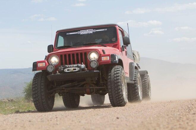 Custom 2006 Jeep Wrangler TJ with Off-Road Trailer