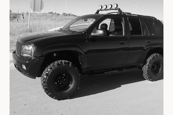 Have You Ever Seen a Chevy Trailblazer With a 5.3L V-8 Swap and Meaty 35-Inch Mud-Terrain Tires?