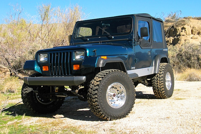 1995 Jeep Wrangler Lift, Tires, Axles, and Interior Upgrades