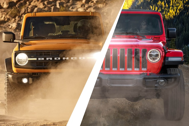 Off-Road Spec Sheet Shootout: Ford Bronco vs. Jeep Wrangler