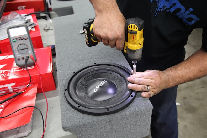 Installing a Custom Audio System with Subwoofer Enclosure in our 2004 Ford F250