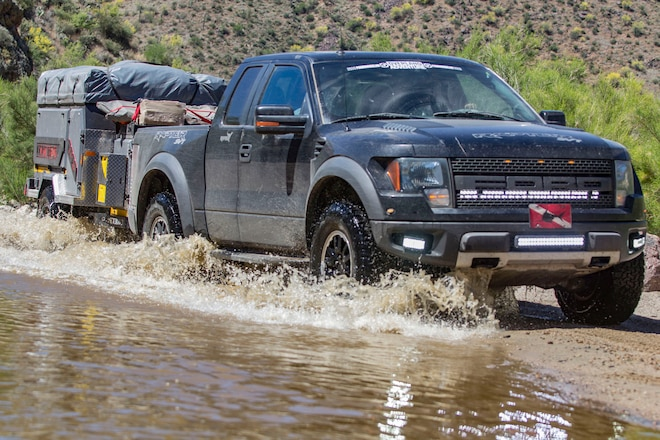Overland Truck Build: 2010 Ford Raptor and Conqueror UEV-390 Off-Road Trailer