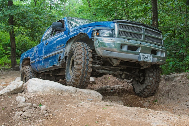Dodge Ram 1500 With No Lift and 38.5s Wheels Rausch Creek